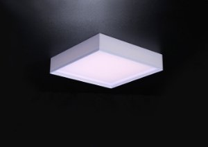 Plafon LED Sobrepor de Acrílico e Alumínio Ivi Branco - Bella Italia