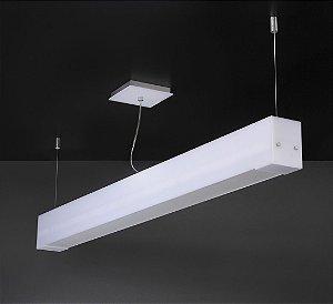 Pendente de Acrílico e Alumínio Allora 2 x T8 LED Branco - Bella Italia
