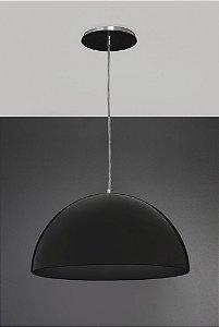Pendente de Acrílico Luna E27 Preto - 35cm Bella Italia