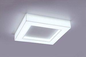 Plafon LED Sobrepor de Acrílico e Alumínio Aisha Fosco com Branco - Bella Italia