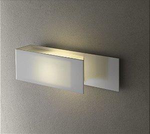 Arandela de Acrílico e Alumínio Lizzi 1 x E27 Branco - Bella Italia