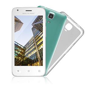 Smartphone Multilaser MS45S, Quad Core, Android, Tela 4.5´, 8GB, 5MP, Desbloqueado - Branco - P9012