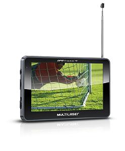 GPS Multilaser 5.0 Polegadas Touchscreen c/ TV digital + FM GP036 (GP014)