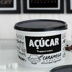 Tupperware Caixa Açúcar PB 1,4 kg Preto e Branco