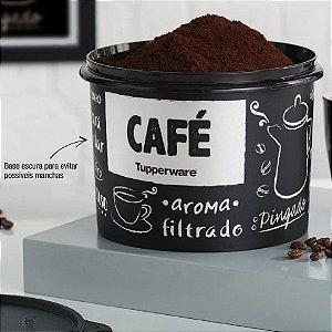 Tupperware Caixa Café PB 700g Preto e Branco