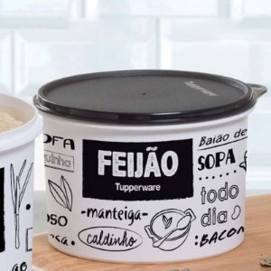 Tupperware Caixa Feijão PB 2 kg Preto e Branco