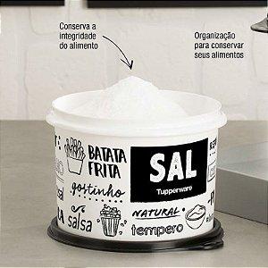 Tupperware Caixa Sal PB 1kg Preto e Branco