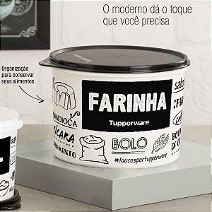 Tupperware Caixa Farinha PB 2 Kg Preto e Branco