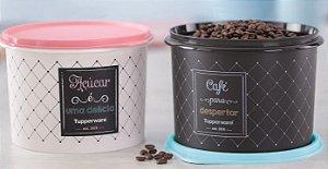 Tupperware Kit Par Perfeito Tupper Caixa Açúcar e Café Bistrô