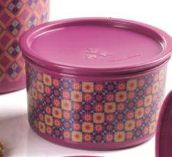 Tupperware Pote Master Misture e Combine 1,5 Litro Roxo Geométrico