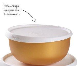 Tupperware Tigela Toque Mágico 2,5 Litros Gold