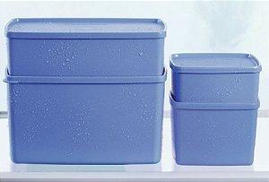 Tupperware Kit 4 peças Freezer Azul Serenity