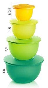 Tupperware Kit 4 peças Tigela Murano
