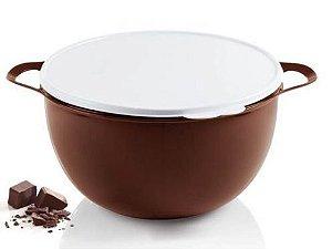 Tupperware Mega Criativa Chocolate 10 Litros Tampa Branca