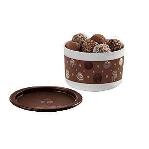 Tupperware Mini Instantânea Slim Bombom Tampa Chocolate 575 ml
