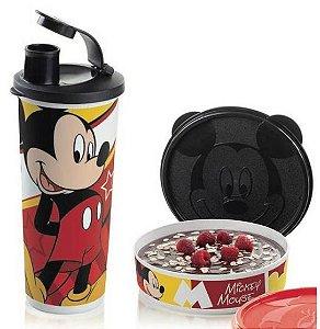 Tupperware Kit 2 peças Mickey Tampa Preta