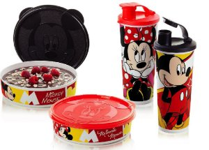 Tupperware Kit 4 peças Minnie e Mickey