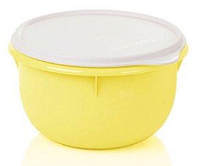 Tupperware Tigela Batedeira Amarela Tampa Branca 2 Litros