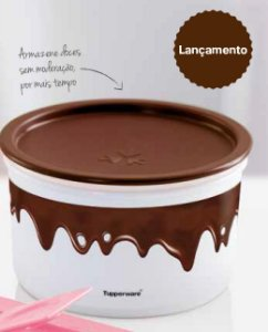 Tupperware Pote Master Chocolate 1,5 Litro Tampa Chocolate
