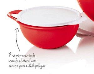 Tupperware Mini Criativa Vermelha 1,4 Litro Tampa Branca