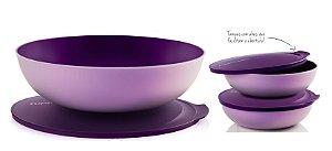 Tupperware Kit 3 peças Tigelas Allegra Furta-Cor Roxo