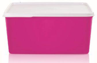 Tupperware Basic Line Rosa Neon 5 Litros Tampa Branca