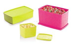Tupperware Kit 3 peças Freezer Neon