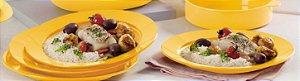 Tupperware Pratos Outdoor Kit 4 peças Amarelo Piquenique
