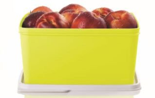 Tupperware Basic Line Amarelo Neon 2,5 Litros Tampa Branca