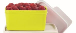 Tupperware Basic Line Amarelo Neon 500 ml Tampa Branca