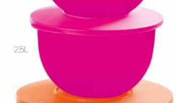 Tupperware Tigela Murano 2,5 Litros Rosa Neon
