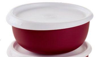 Tupperware Tigela Toque Mágico 550 ml Cada Vermelha