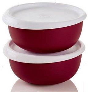 Tupperware Tigela Toque Mágico Kit 2 peças 550 ml Cada Vermelha