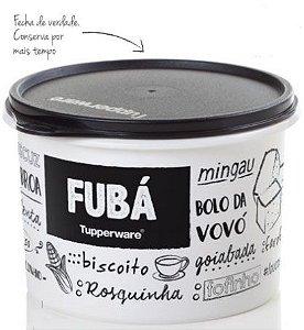 Tupperware Caixa Fubá 1 kg Preto e Branco PB