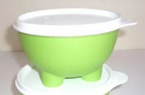 Tupperware Porta Amêndoas Castanhas Verde Tampa Branca 400 ml