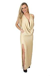 Vestido sensual Longo em Lurex  AL06