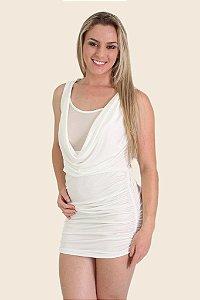 Minivestido Sensual em tecido com poliéster e elastano VX01