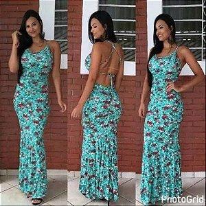 Vestido Longo Costas Nua