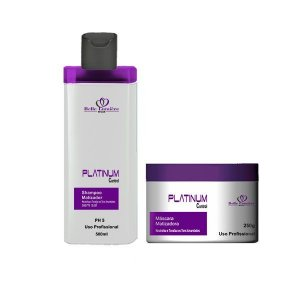 Kit Platinum Control (Shampoo 500ml + Mascara 250ml) - Matizador Profissional