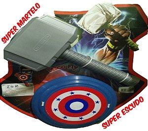 Martelo Thor E Escudo Capitão America