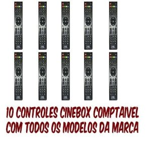 10 Controles remotos cinebox