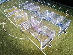 Par De Traves Oficiais Listradas  (futebol De Botão/mesa)