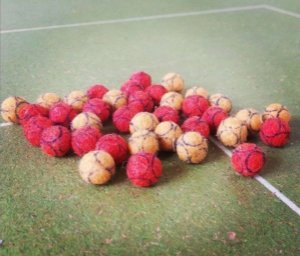5 Bolas-bolinhas Para Futebol De Botão/ Mesa