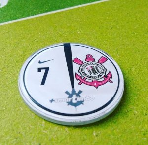 Time de Botão do Corinthians (acrílico cristal)
