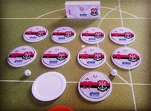 Time de Botão Flamengo Camisa Branca