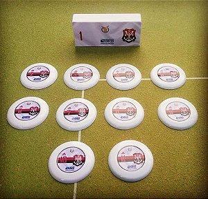 Time/jogo de Botão Flamengo  branco (estilo Gulliver)