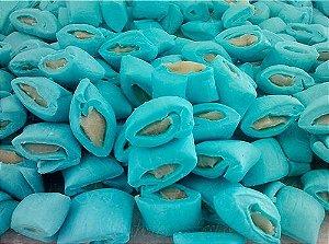 Balas de coco com recheio de beijinho |Cor azul | 1 Quilo