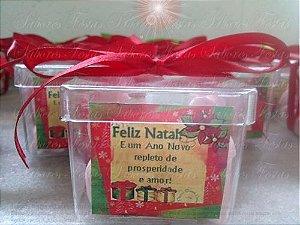 Lembranças de Natal - Caixinhas com balas de coco caseiras - 30 Unidades.