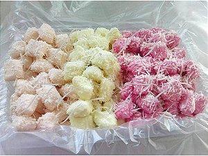 Bala de coco artesanal  geladas coloridas - 1 Quilo