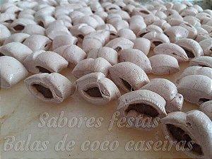 Doces de festas | Balas de coco recheadas | Recheio Brigadeiro | 1Quilo